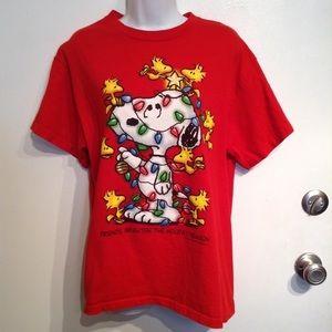 Peanuts Tops - The Peanuts Snoopy Christmas Tee Shirt